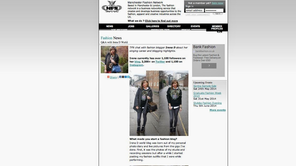 INTERVIEW IN MANCHESTER FASHION NETWORK
