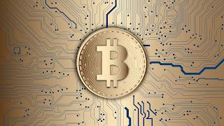 Pièce bitcoin et les banques