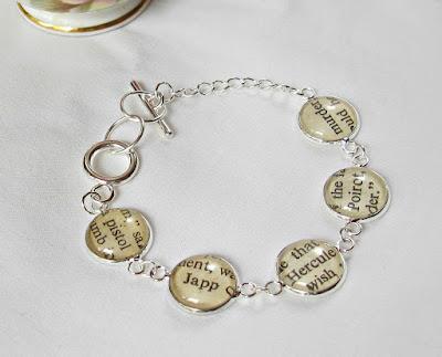 hercule poirot bracelet jewellery jewelry bookworm gift two cheeky monkeys