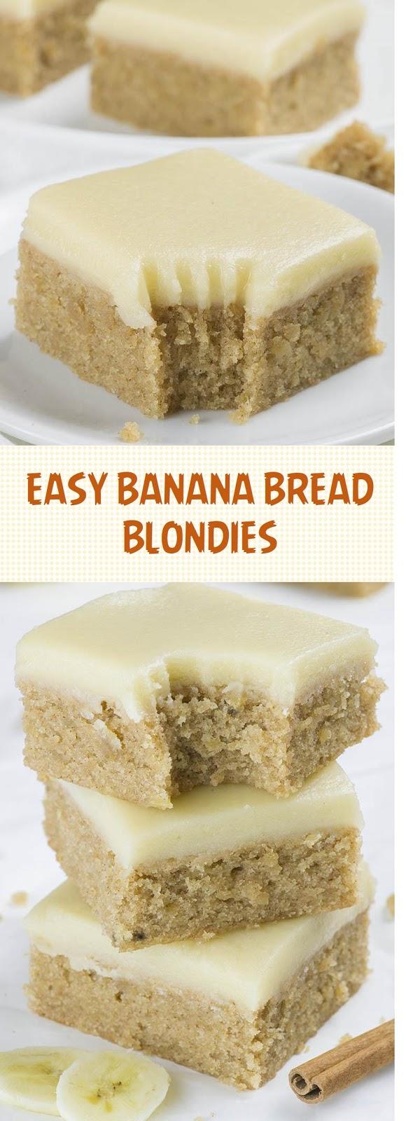 Easy Banana Bread Blondies