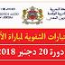 النتائج النهائية لمباراة التعليم بالتعاقد 2019، دورة دجنبر 2018