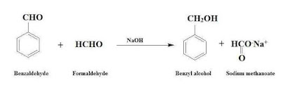 cannizzaro reaction of benzaldehyde and formaldehyde