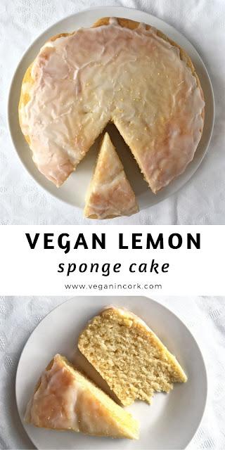Vegan lemon sponge cake Pinterest