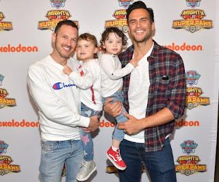 Monte's ex-spouse Cheyenne Jackson with his spouse & their children