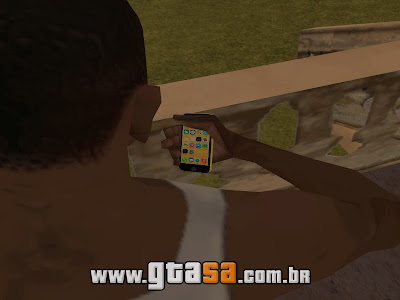 iPhone 5C Amarelo para GTA San Andreas