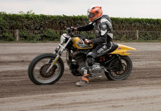 udo meuthen on his sportster tracker in flat track