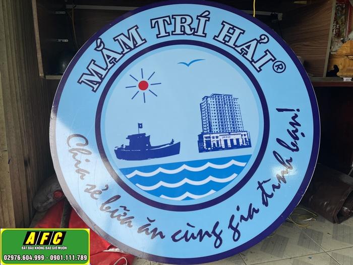 Thi công Bảng hiệu Hộp đèn hút nổi Mắm Trí Hải Phú Quốc