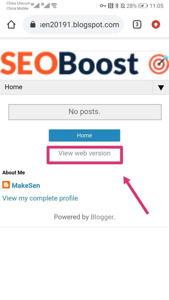 blogger教程 - view web version是什么?怎么设置手机版blogger模板