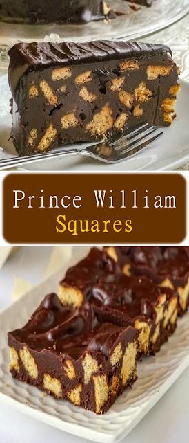 Prince William Squares Recipe #Cake #Biscuit #Brownies