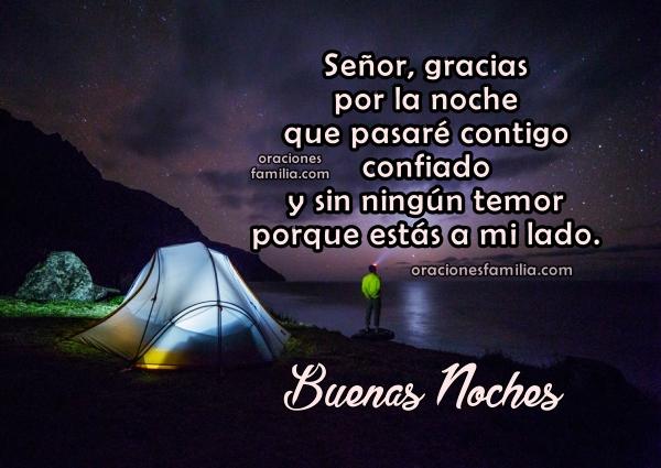 Frases con oracion de la noche, imagen con oraciones de buenas noches  por Mery Bracho