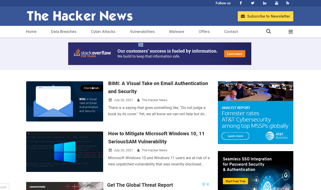 Free Download The Hacker News Responsive Blogger Template