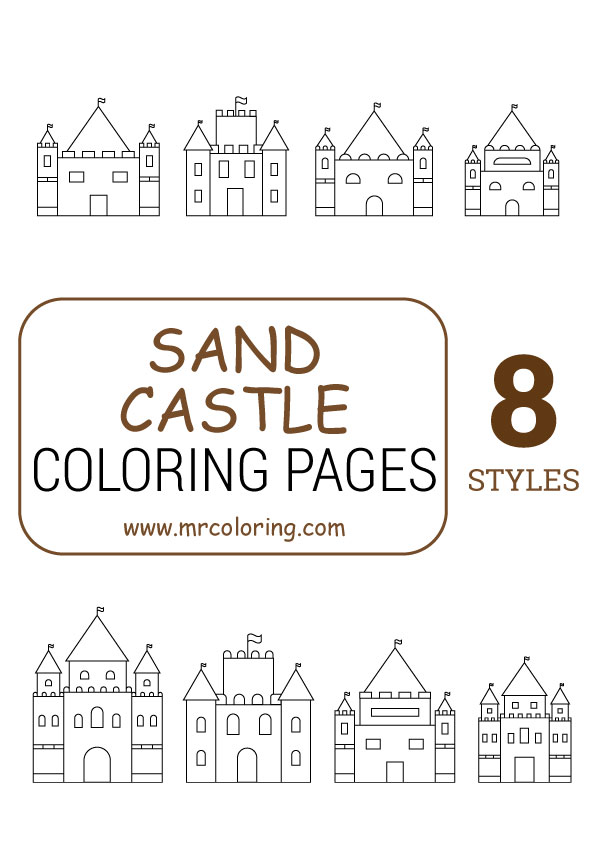 Sand Castle Coloring Pages For Kids