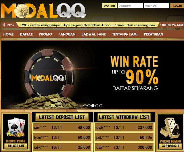 MODALQQ Agen Poker Terbaru Dengan Winrate 90%