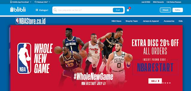 merchandise NBA di Blibli