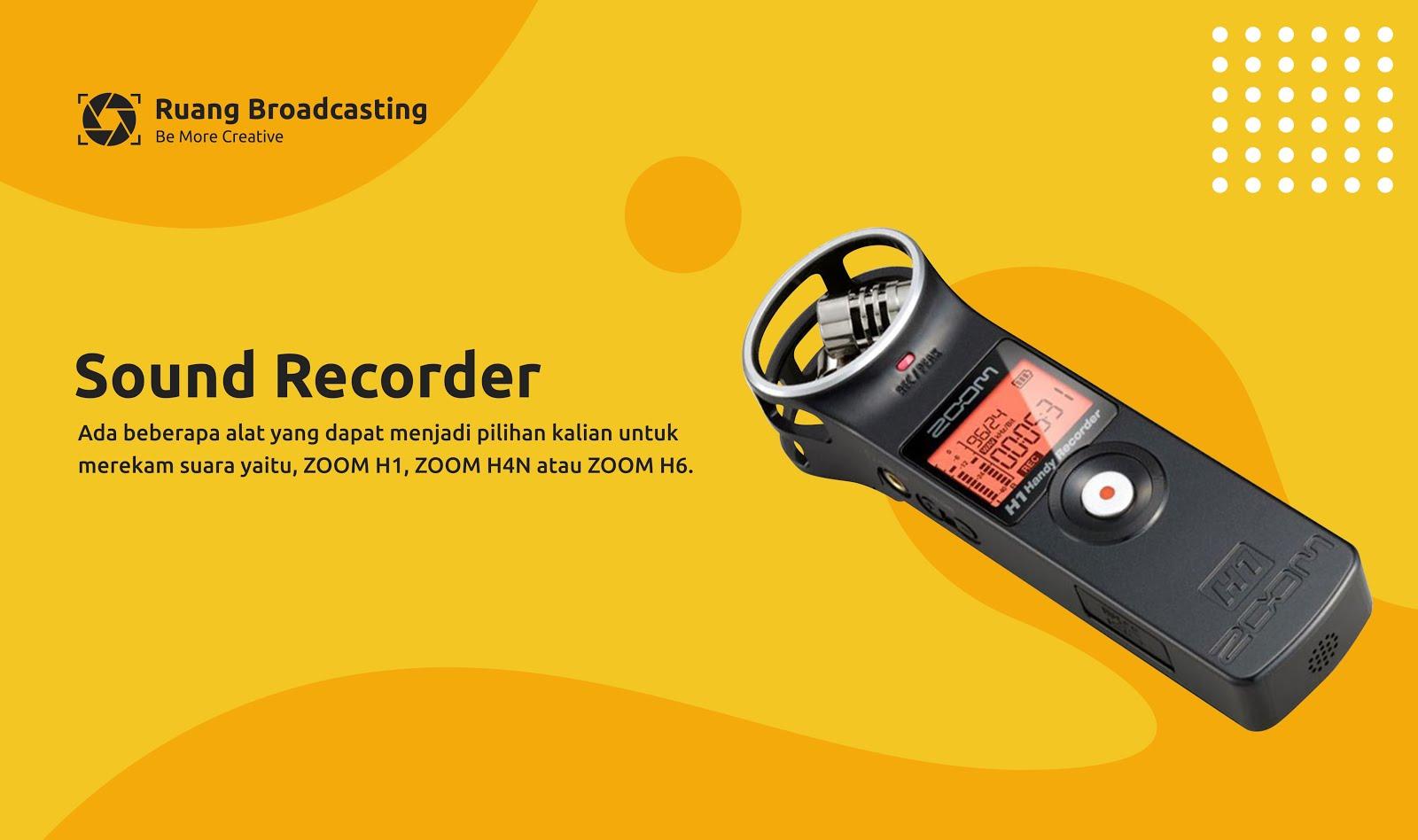 Alat perekam suara dalam filmmaking