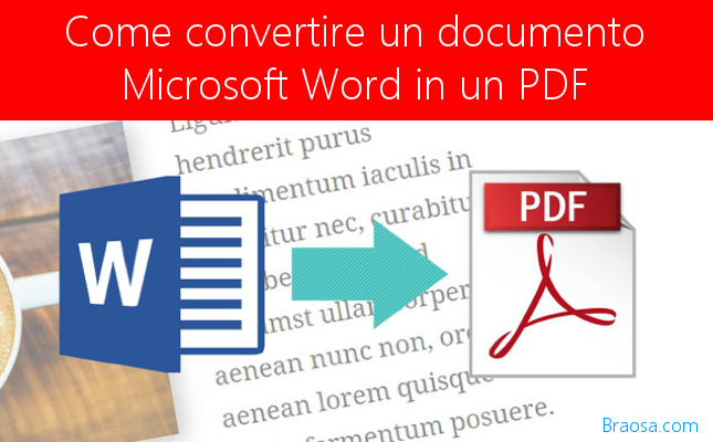 Come convertire un documento di Microsoft Word in un PDF