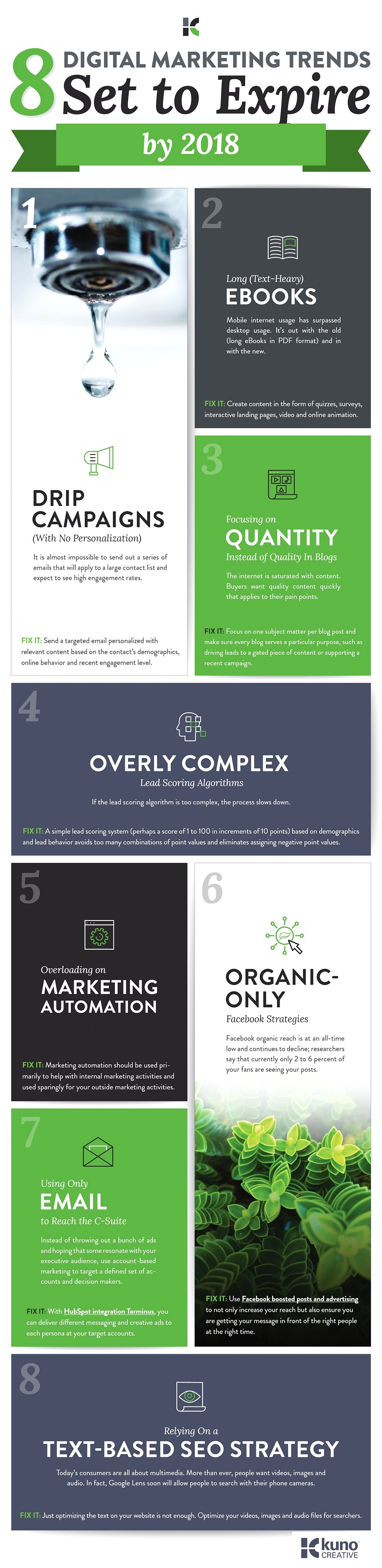 8 Digital Marketing Trends Set to Expire by 2018 - #infographic
