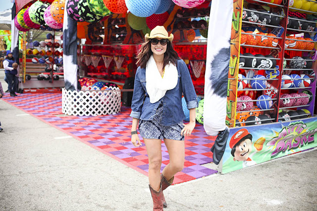 Amy West at the Houston Rodeo Carnival