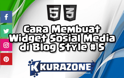 Cara Membuat Widget Sosial Media di Blog - Style #5