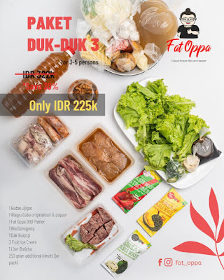 Menu Korean BBQ Fat Oppa Karapitan Bandung