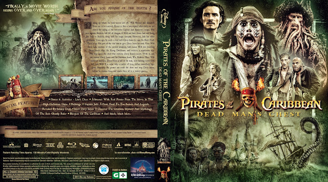 Pirates of the Caribbean: Dead Man's Chest Bluray Cover