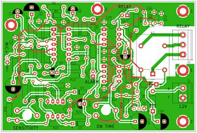 Placa de circuit a senzorului volumetric
