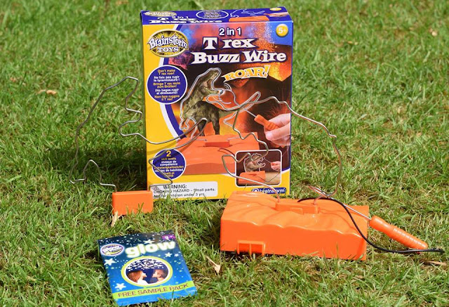 2 in 1 T-Rex Buzz Wire from Brainstorm Toys packaging