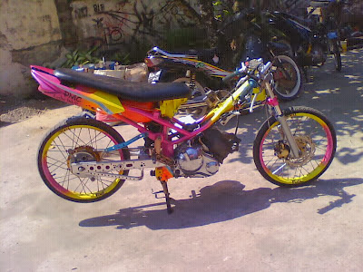 Motor Jupiter MX Drag Modifikasi