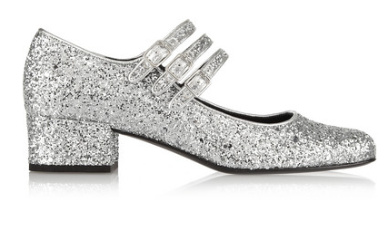 saint laurent glitter shoes