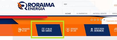 Imagem do Painel de acesso à Segunda via Roraima Energia