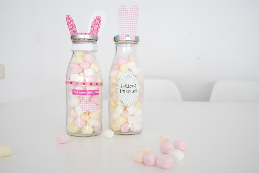 chuches para pascua. Easter candy in a bottle