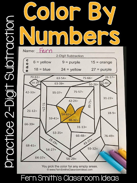 Are you working on the multiple ways to write subtraction problems with second graders? This blog post has some tips, resources and lessons to help your students practice  2-digit subtraction problems. Fern Smith's Classroom Ideas