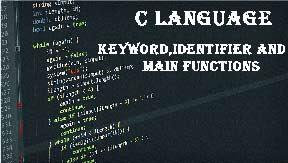 C language keywords types identifiers