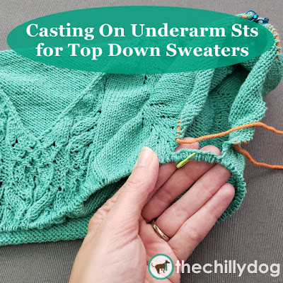 Knitting Video Tutorial: Casting On Underarm Stitches for Top Down Sweaters