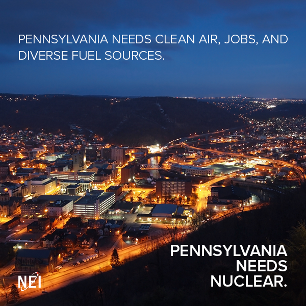 Pennsylvania needs clean air, jobs and diverse energy sources.