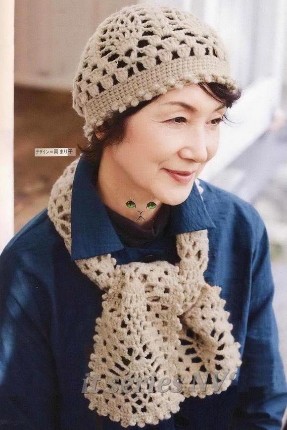 Stylish Easy Crochet  Crochet Hat And Scarf Pattern - Pineapple Lace 6ca200de478