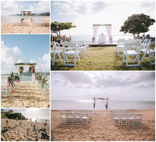 Beach Weddings Intimate set up