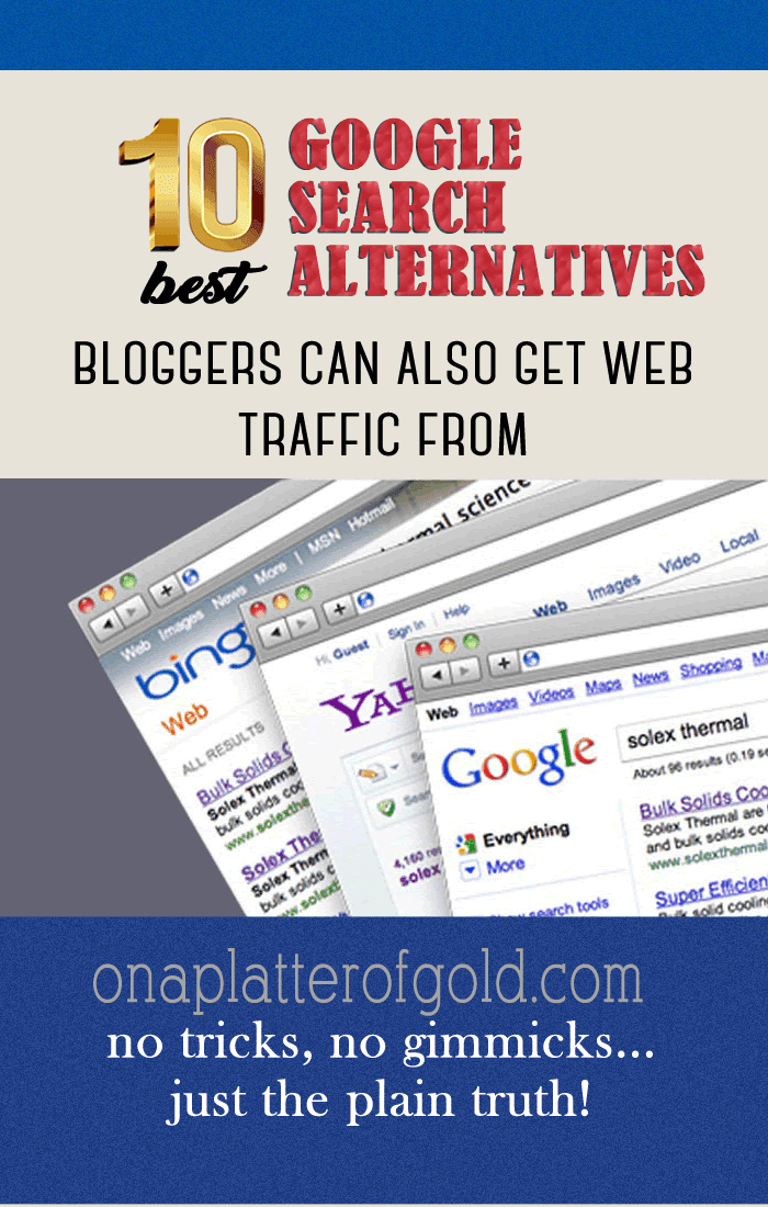 10 Best Google Search Alternatives Bloggers Can Also Get Traffic From