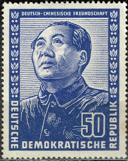 DDR Germany China Communist Leader Mao Zedong stamp 1951