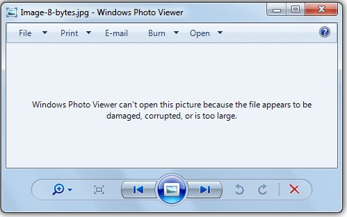 Windows Photo Viewer Can't Open This Picture Error