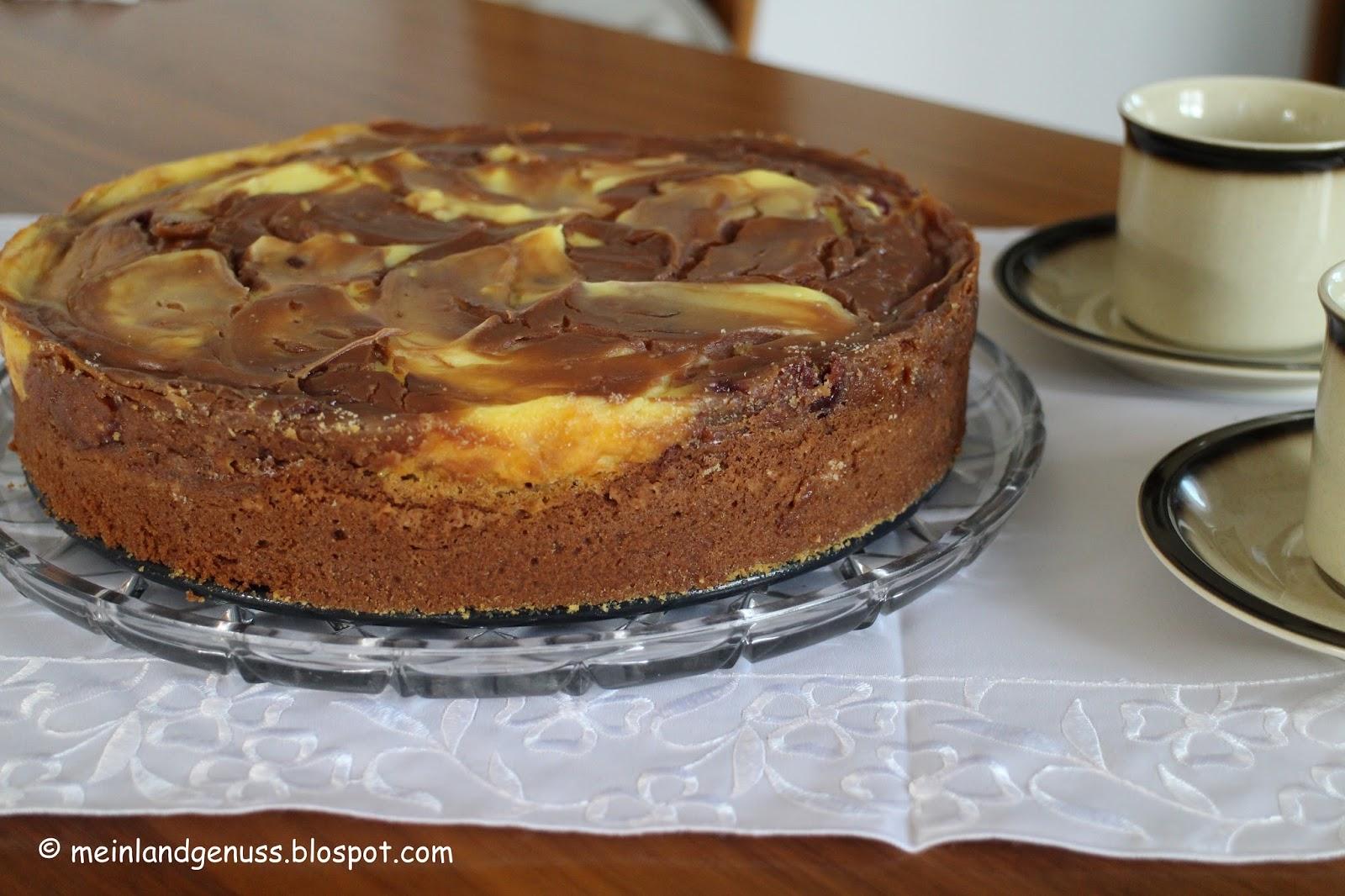 Mein Land Und Gartengenuss Schoko Schmand Kuchen Mit Kirschen