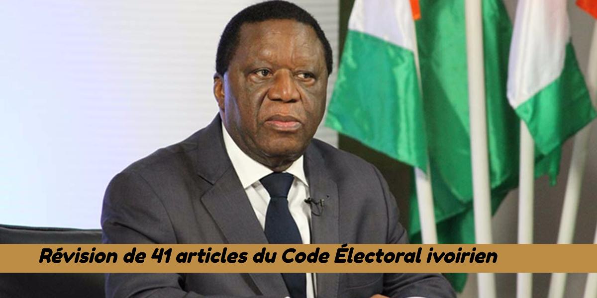 Nouveau : révision de 41 articles du code électoral conformément à la Nouvelle constitution