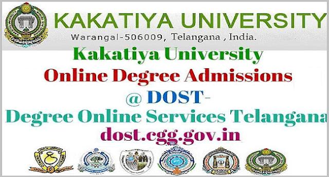 Kakatiya University,Online Degree Admissions,dost degree online services telangana
