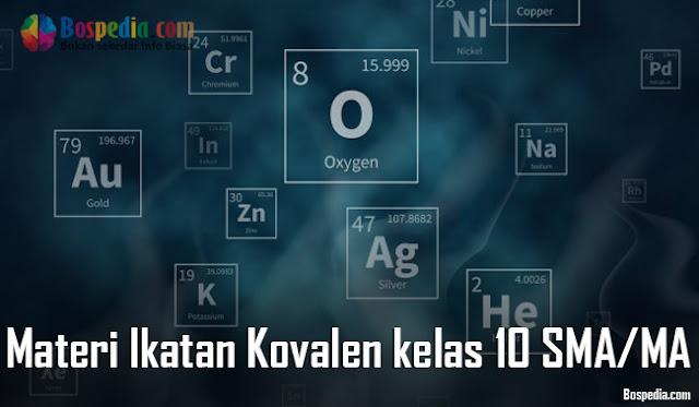 Materi Ikatan Kovalen kelas 10 SMA/MA + Latihan Soal