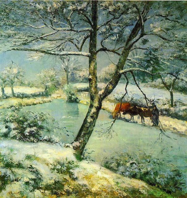 Camille Pissarro - Winter in Montfoucault - 1875