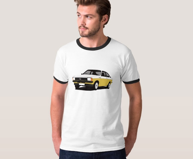 Opel Kadett C Coupé illustration two colors t-shirt