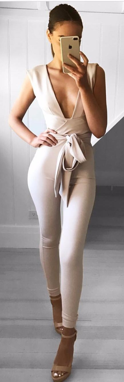 plunge nudes: jumpsuit perfection
