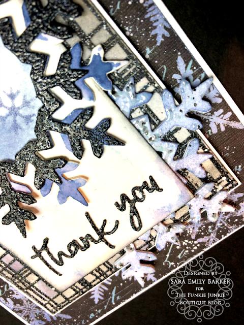Sara Emily Barker https://sarascloset1.blogspot.com/2020/01/mixed-media-layered-card.html #timholtz #mixedmedia #wreath&snowflake #lumberjack 4