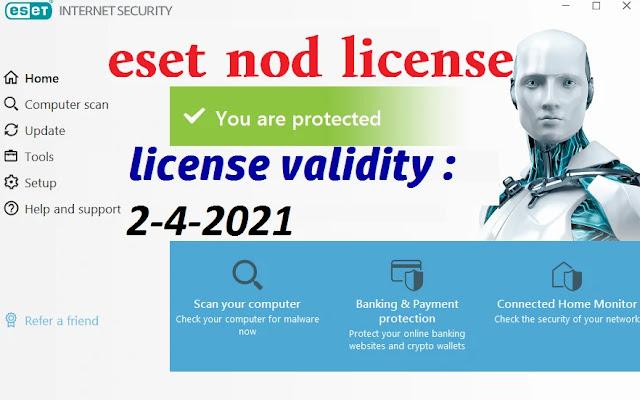 eset nod license key validity 2-4-2021