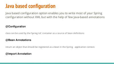 @Configuration annotation - Java based Spring Configuration